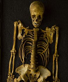 A skull and bones were found wrapped in sheets in the monk's luggage. File photo