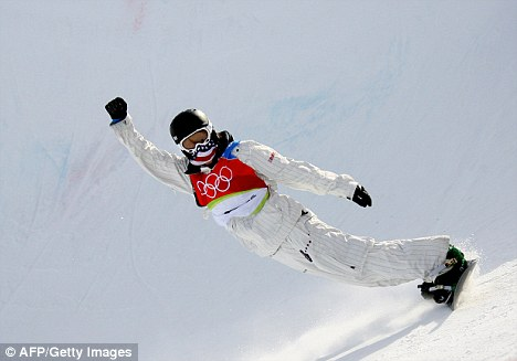 Boarding champion: Shaun White won his first Olympic gold medal at the 2006 winter games in Turin