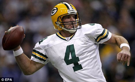 Legend: Favre during his final season with the Green Bay Packers, where he played for 15 years