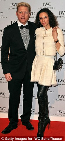 Star-studded: Boris Becker and wife Sharlely, left, joined Leon actor Jean Reno and wife Zofia, right, at the bash