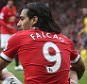 MANCHESTER, ENGLAND - MAY 17:  Radamel Falcao of Manchester United sits on the pitch during the Barclays Premier League match between Manchester United and Arsenal at Old Trafford on May 17, 2015 in Manchester, England.  (Photo by John Peters/Man Utd via Getty Images)