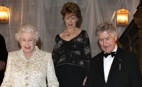 Key player: Christopher Moran with the Queen and Irish President Mary McAleese in 2005