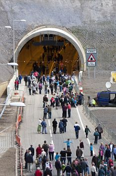 'Once-in-a-lifetime': Some of the 6,600 who walked through the tunnel this weekend