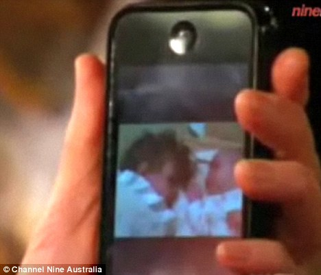 Adorable: The Oscar-winning actress showed off a picture of her two-year-old daughter Sunday Rose cuddling up to two-month old sister Faith Margaret