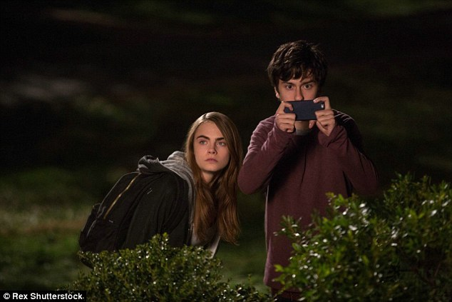 Branching out: She shot to fame as a high fashion runway model, but Cara has begun dabbling in film as well. She stars alongside Nat Wolff (seen here) in this summer's coming-of-age dramedy Paper Towns