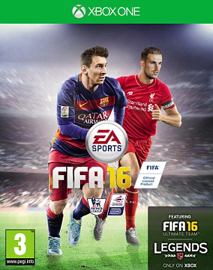 Jordan Henderson was voted by fans to feature alongside Messi as the cover star for FIFA 16