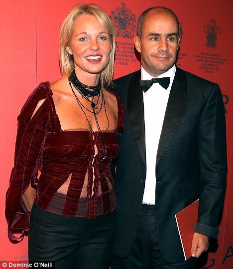 Amanda and her husband multi-millionaire Johan Eliasch at a party in London in September 2002
