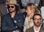 LONDON, ENGLAND - JULY 12:  Aaron Taylor-Johnson, Sam Taylor-Johnson and Jeremy Piven attend day 13 of the Wimbledon Tennis Championships at Wimbledon on July 12, 2015 in London, England.  (Photo by Karwai Tang/WireImage)
