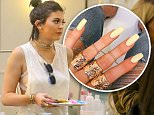 Beverly Hills, CA - Kylie Jenner gets pampered at Nail Bar and Beauty Lounge in Beverly Hills, she wore a white tee with a brown leather jacket on top, skinny jeans and gray heels. \nAKM-GSI     July 13, 2015\nTo License These Photos, Please Contact :\nSteve Ginsburg\n(310) 505-8447\n(323) 423-9397\nsteve@akmgsi.com\nsales@akmgsi.com\nor\nMaria Buda\n(917) 242-1505\nmbuda@akmgsi.com\nginsburgspalyinc@gmail.com