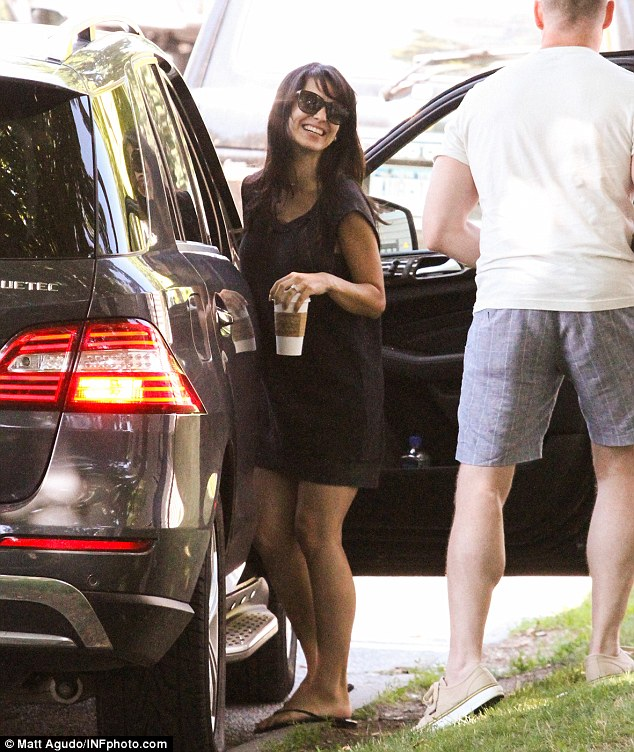 Post-baby body: Hilaria was spotted looking fit and trim just two weeks after giving birth (pictured on July 3)