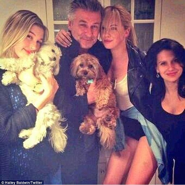 'Family': Hailey Baldwin shared an image of herself with her uncle Alec Baldwin, cousin Hailey Baldwin, and Hilaria on Friday