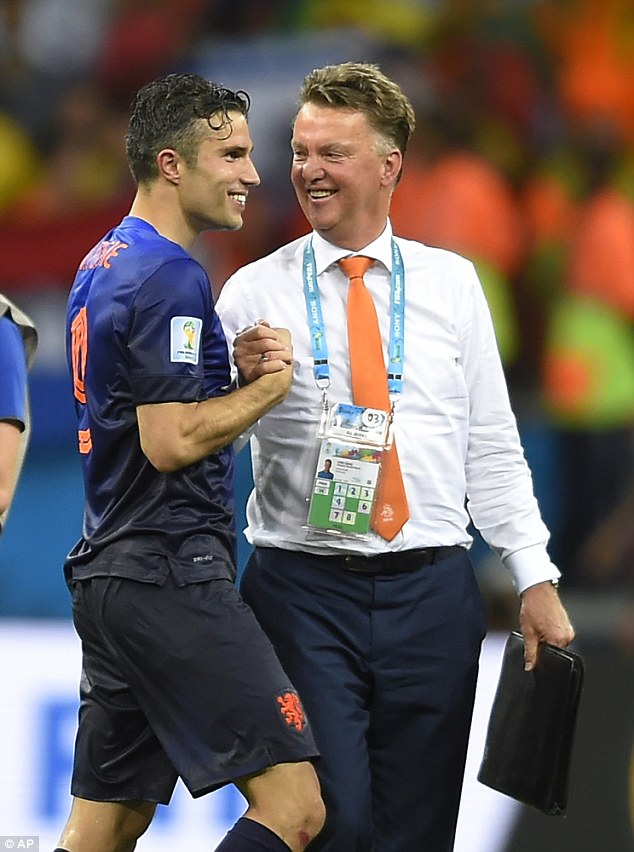 At this point, it looked likely that Van Persie would be the main man for Van Gaal at Old Trafford