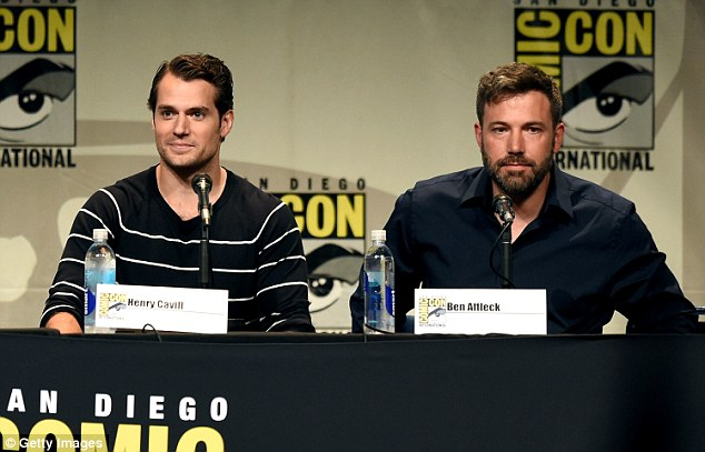 Co-stars: Henry Cavill (Superman) and Ben Affleck (Batman) appeared together on Saturday at Comic-Con on Saturday to discuss the upcoming Batman v Superman: Dawn Of Justice