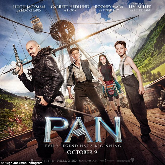 Soon-to-be blockbuster: Hugh Jackman will soon begin blazing a promotional trail for Pan, a film in which he plays Blackbeard