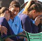 UK CLIENTS MUST CREDIT: AKM-GSI ONLY EXCLUSIVE: Santa Monica, CA - Luke Wilson has a heart felt talk with ex girlfriend Meg Simpson in Santa Monica. The couple had a long chat while over looking the coast from a Santa Monica park this afternoon. Luke appeared to be consoling his ex-girlfriend Meg as she cried on the bench next to the actor.  Pictured: Luke Wilson and Meg Simpson Ref: SPL1077236  120715   EXCLUSIVE Picture by: AKM-GSI / Splash News