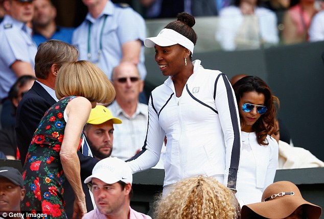 Influential ladies:Venus Williams meets Anna Wintour at Day 12 of the Wimbledon Championships