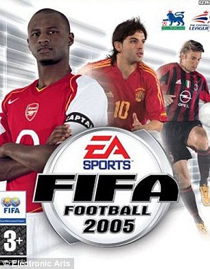 His former Arsenal team-mate Patrick Vieira was on FIFA 2005 with Fernando Morientes and Andriy Shevchenko