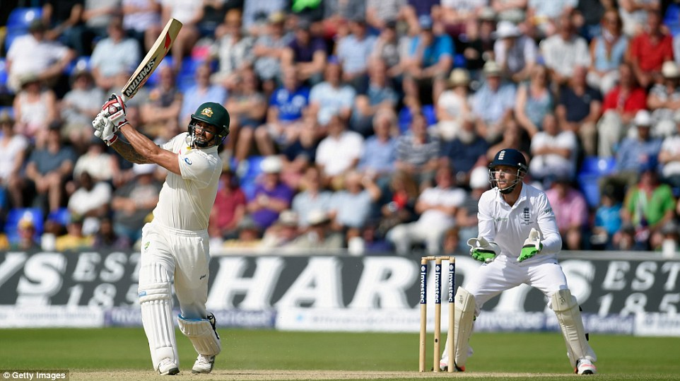 Mitchell Johnson provided some resistance with the bat for Australia against England on Saturday, making 77 before falling to Joe Root