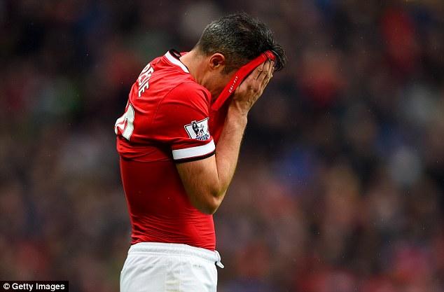 Dutch striker Robin van Persie's goalscoring record has declined each calender year since 2011