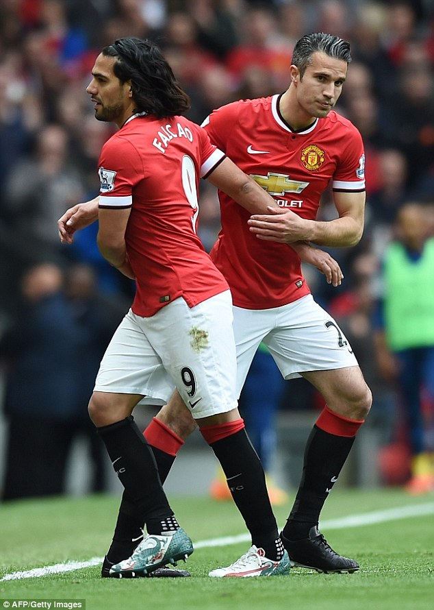Van Persie increasingly had to play second fiddle to expensive flop Radamel Falcao