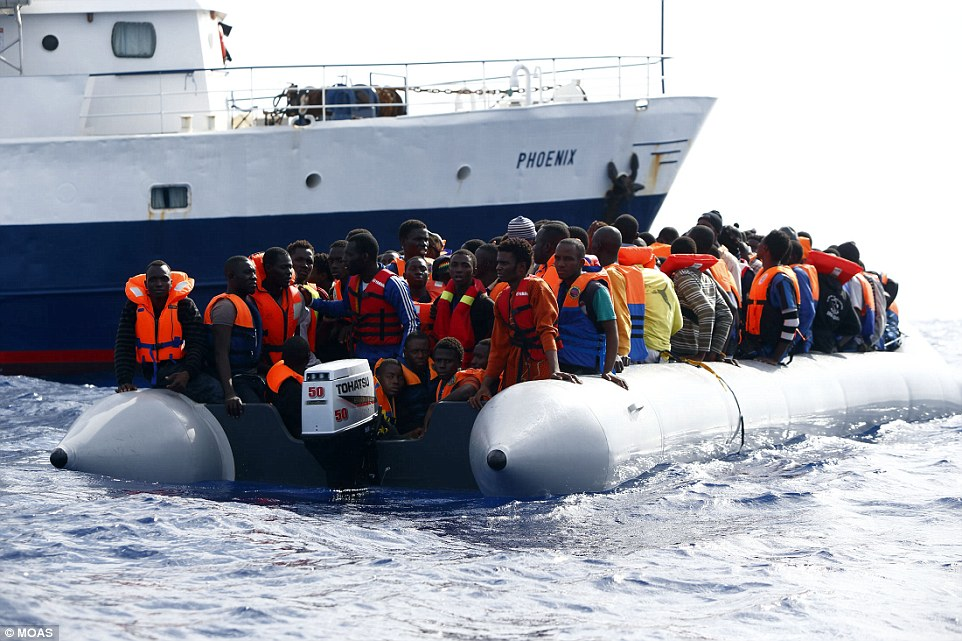 Following the law: On its website, MOAS says it 'follows the laws of the sea, which oblige all vessels to help in case of distress'
