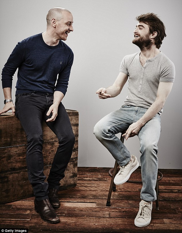 Having a laugh: Daniel and James  looked perfectly at ease with each other as they continued to promote their new film