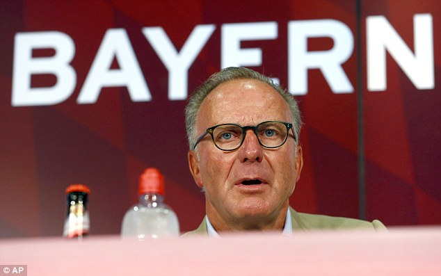 Bayern Munich chief executive Karl-Heinz Rummenigge confirmed the news at a press conference