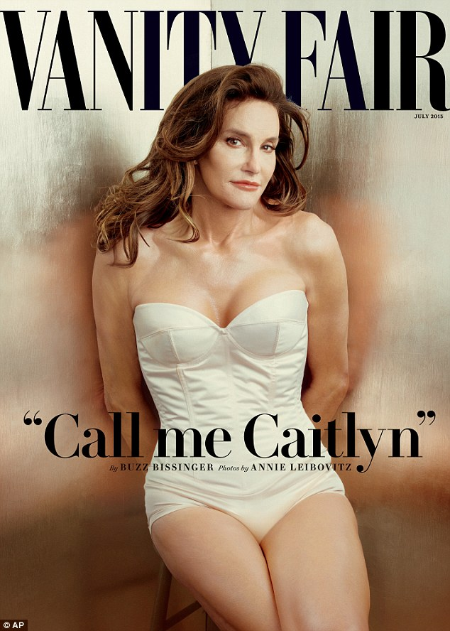 Revelation: Miss Jenner, 65, who featured on Keeping Up With The Kardashians, announced that she had assumed her new identity on the cover of the July edition of Vanity Fair (above), headlined: 'Call me Caitlyn'