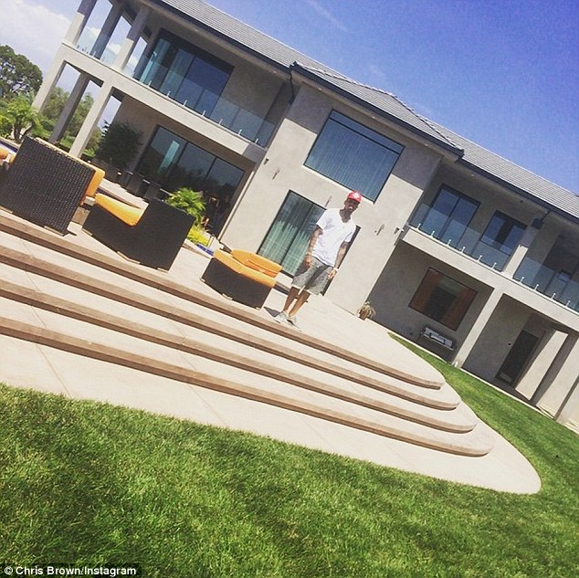 Palatial: According to TMZ, Breezy bought the home in May for $4.5 million and it features 8,317 sq. ft.