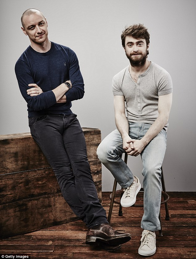 Work together, pose together: The two actors posed for a series of portraits together at Comic-Con International 2015 in San Diego