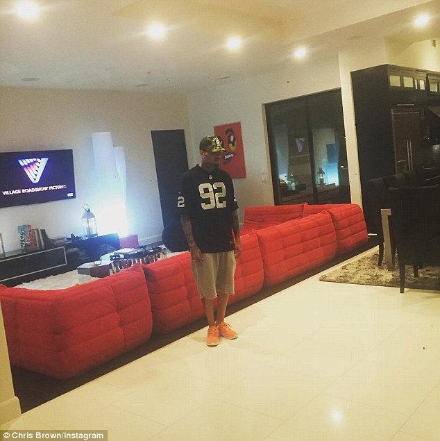 Man cave: The new home features plenty of entertainment opportunities for the young rapper, including a sound-proof home theater with 14 reclining seats