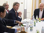 US Secretary of State John Kerry (2nd R), US Secretary of Energy Ernest Moniz (3rd R) and French Foreign Minister Laurent Fabius (R) meet at the Palais Coburg Hotel, where the Iran nuclear talks are being held, in Vienna, Austria on July 14, 2015. Major powers have struck a long-awaited nuclear deal with Iran after more than two weeks of intense talks in Vienna, a diplomat close to the negotiations said.    AFP PHOTO / POOL / JOE KLAMARJOE KLAMAR/AFP/Getty Images