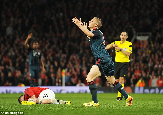 The German celebrates his equaliser in the first leg of the Champions League quarter-finals in 2014