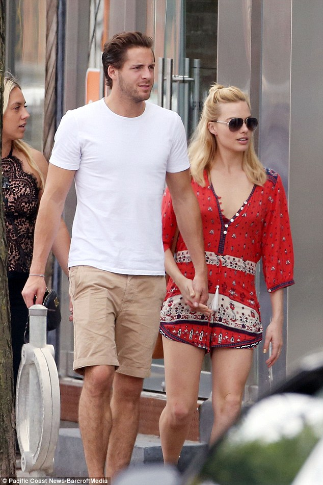 Lovebirds: Margot's romance with Tom, who attended Godalming College, surfaced in April 2014 after the pair met while working together on Suite Francaise, which also stars actress Michelle Williams