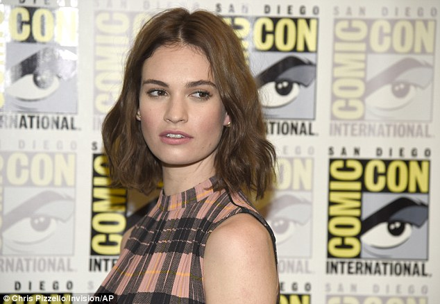 Immaculate: The Downton Abbey star ensured her make-up was immaculate as she stepped out at the event
