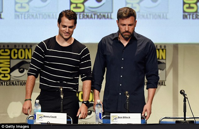 Bromance: Henry and Ben put on a show of unity at the panel discussion about their new superhero flick