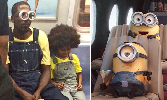 New York Man takes his son to see Minions movie in full costume