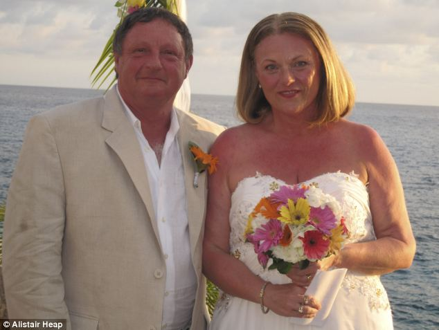 On their special day: Kim and Adrian on their wedding day in Jamaica, 2011. Kim says she felt sharper almost immediately. 'I began losing weight and my energy went up. I soon realised that I was starting to feel interest in being sexual again'