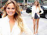 NEW YORK, NY - JULY 13: Chrissy Teigen Viacom And Spike TV Ring The NASDAQ Opening Bell  at NASDAQ MarketSite on July 13, 2015 in New York City.  (Photo by Robin Marchant/Getty Images)