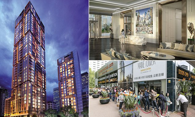 Canary Wharf's Maine Tower flats worth £140m sell out as half go to foreigners