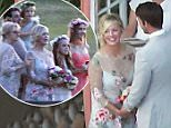 Picture Shows: Jennie Garth, David Abrams  July 11, 2015    **Min £400 Web/Online Set Usage Fee**    Actress Jennie Garth looks stunning as she weds David Abrams in a beautiful and intimate ceremony at her ranch in Santa Ynez, California.     Though this is Garth's second marriage, she looked every bit the first time bride in a beautiful wedding dress with roses embroidered on it. With her adorable daughters serving as bridesmaids, she gazed lovingly at Abrams.    **Min £400 Web/Online Set Usage Fee**    Exclusive - All Round  UK RIGHTS ONLY    Pictures by : FameFlynet UK © 2015  Tel : +44 (0)20 3551 5049  Email : info@fameflynet.uk.com
