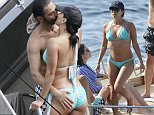 13.JULY.2015 - CAPRI - ITALY **STRICTLY NO WEB SALES UNTIL FURTHER NOTICE* * EXCLUSIVE PICTURES * *AVAILABLE FOR UK SALES ONLY * ACTRESS EVA LONGORIA AND BOYFRIEND JOSE ANTONIO BASTON ARE SEEN ON HOLIDAY WITH FRIENDS IN CAPRI, ITALY, EVA IS SEEN WEARING A SKIMPY BLUE BIKINI SHARING A FEW KISSES ON A BOAT WITH JOSE ANTONIO AS THEY BOTH SOAK UP THE ITALIAN SUNSHINE WHILE ALSO ENJOYING SOME KAYAKING WITH JOSE AND FRIENDS.  BYLINE MUST READ : KIKAPRESS.COM / XPOSUREPHOTOS.COM ***UK CLIENTS - PICTURES CONTAINING CHILDREN PLEASE PIXELATE FACE PRIOR TO PUBLICATION *** **UK CLIENTS MUST CALL PRIOR TO TV OR ONLINE USAGE PLEASE TELEPHONE 44 208 370 0291**