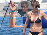 Picture Shows: Sylvester Stallone  July 13, 2015    Sylvester Stallone and his family are seen having a blast aboard a yacht in the South of France after celebrating Sylvester's 69th birthday celebration in Venice.     The action star, along with wife Jennifer Flavin and their three daughters, appeared to have a great time as they swam and had a go at paddle boarding on their French vacation.    Exclusive  UK RIGHTS ONLY        Pictures by : FameFlynet UK © 2015  Tel : +44 (0)20 3551 5049  Email : info@fameflynet.uk.com