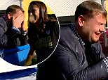 ****Ruckas Videograbs****  (01322) 861777\n*IMPORTANT* Please credit CBS for this picture.\n14/07/15\nThe Late Late Show with James Corden\nSEEN HERE: Grabs from last night's show which saw Carli Lloyd - the hero of the USA Women's Worlc Cup soccer team - kicking footballs at a dunk target that drops James Corden into a tank of cold water. It only took Lloyd three attempts to hit the target, giving Corden a soaking in his suit.\nOffice  (UK)  : 01322 861777\nMobile (UK)  : 07742 164 106\n**IMPORTANT - PLEASE READ** The video grabs supplied by Ruckas Pictures always remain the copyright of the programme makers, we provide a service to purely capture and supply the images to the client, securing the copyright of the images will always remain the responsibility of the publisher at all times.\nStandard terms, conditions & minimum fees apply to our videograbs unless varied by agreement prior to publication.