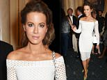 """LONDON, ENGLAND - JULY 13:  Kate Beckinsale poses in the foyer following the press night performance of """"The Mentalists"""" at Wyndhams Theatre on July 13, 2015 in London, England.  (Photo by David M. Benett/Dave Benett/Getty Images)"""