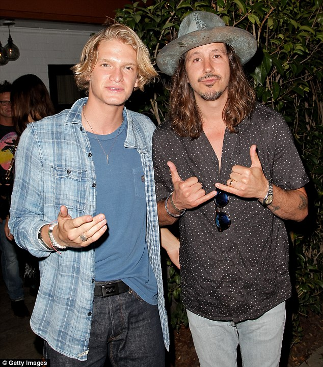 Musos: Cody is seen here with fellow musicianCisco Adler at the event