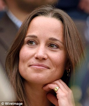 Pippa smiled and appeared to be enjoying herself despite the tension on Centre Court for the men's final