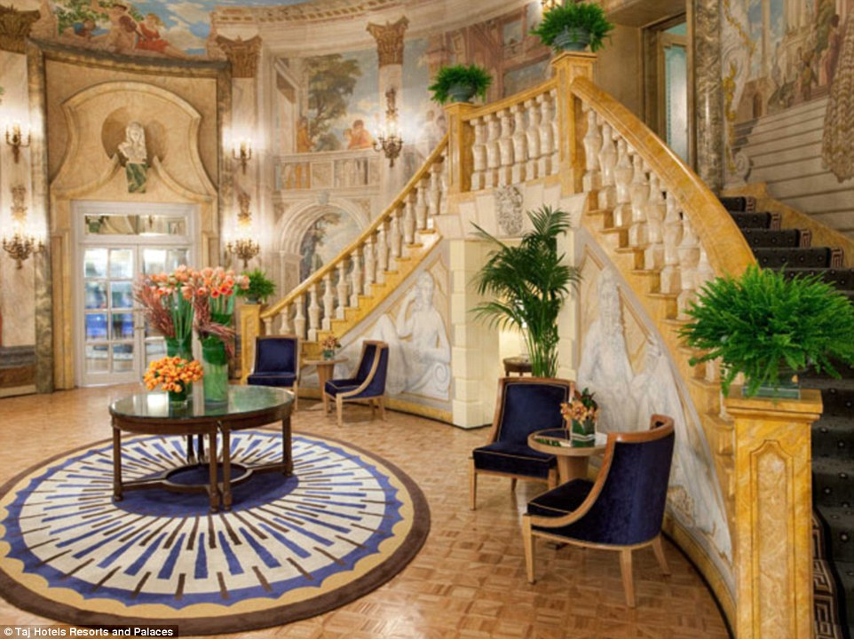 Pricey: New York's most expensive rental is on the 39th floor of the five-star Pierre Hotel on 61st Street near Central Park in Manhattan