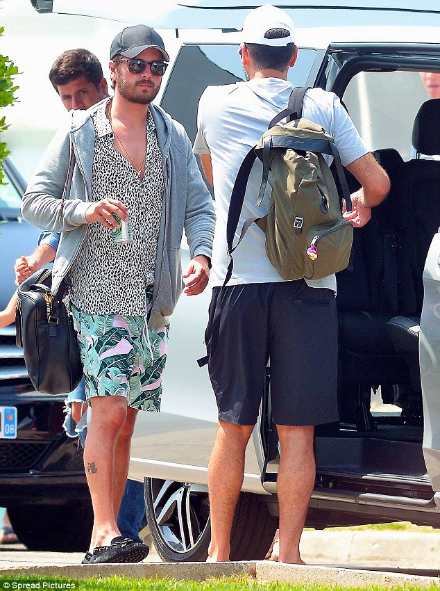 Revealing: Scott, pictured on July 3 in Saint-Tropez, showed off a different side of himself in a new photo obtained by Us Weekly