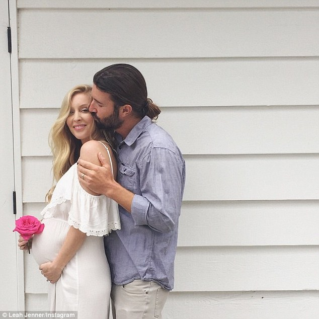 Girl on the way: Leah, 32, shared an Instagram image in June breaking the news that she's expecting a daughter with husband Brandon, 33